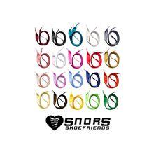 SNORS shoefriends Schnürsenkel flach Satin 75-110cm, 10mm aus Satin Schnürsenkel weiß