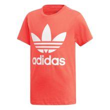 ADIDAS ORIGINALS T-Shirt 'Trefoil' rot / weiß