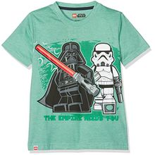 Lego Wear Jungen T-Shirt Star Wars Darth Vader 71171 (122)