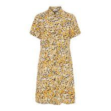 PIECES Blusenkleid gelb