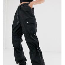 COLLUSION – Hose aus Nylon mit Taschen-Schwarz