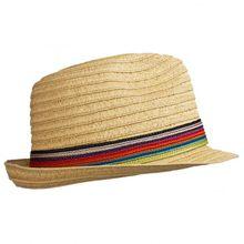 Stöhr - Strawhat Stripes - Hut Gr One Size schwarz;beige/braun