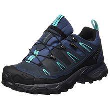 Salomon Damen Ultra Ltr GTX Trekking-& Wanderhalbschuhe, Blau (Slateblue/Deep Blue/Spa Blue 000), 36 2/3 EU