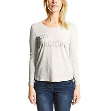 Cecil Damen Langarmshirt 311669, Weiß (Off White Melange 21111), Medium