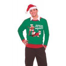 Weihnachtspulli ungezogener Santa - M/L