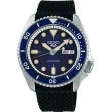 SEIKO Uhr dunkelblau / schwarz / silber / naturweiß