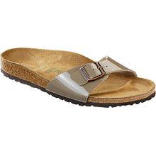 BIRKENSTOCK MADRID Schuhe Sandalen Pantoffeln Clogs Damen (35 EU, LACK FOSSIL)