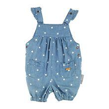 Sigikid Baby-Mädchen Latzhose Latzbermudas, Blau (Denim Light Blue 590), 98 (Herstellergröße: 62)