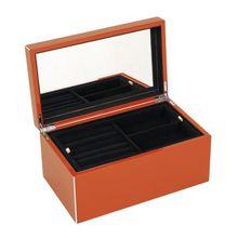 Schmuckkasten M, hochglanz Dark Orange