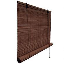 VICTORIA M Bambusrollo 90 x 220cm, dunkelbraun - Fenster Sichtschutz Rollos