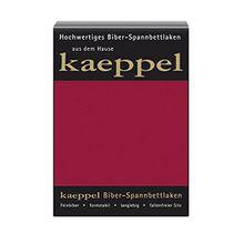 KAEPPEL Biber-Spannbettlaken karmin 100X200 CM