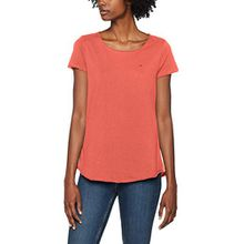 Tommy Jeans Damen T-Shirt Tjw Soft Jersey Tee, Rosa (Spiced Coral 689), Large