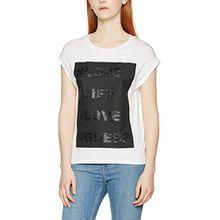 Guess Damen T-Shirt W64I08K54B0, Weiß (True White), Gr. 42 (Herstellergröße: X-Large)