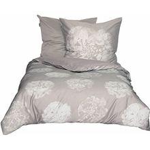 Schöner Wohnen Bettwäsche-Set, 100 Prozent CO, Beige, 200 x 135 cm