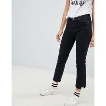 MiH Jeans - Niki - Jeans mit hoher Taille, engem Bein und abgestuftem Saum - Schwarz