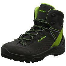 Lowa Unisex-Kinder Arco GTX Mid JU Trekking-& Wanderstiefel, Grau (Anthrazit/Limone 9702), 40 EU