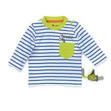 Sigikid Baby-Jungen Langarmshirts Langarm Shirt, Blau (Regatta 527), 68