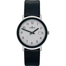 DUGENA Herren-Uhren schwarz / silber / weiß