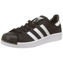 adidas Unisex-Kinder Superstar Sneaker, Schwarz (Core Black/Footwear White/Footwear White), 38 2/3 EU