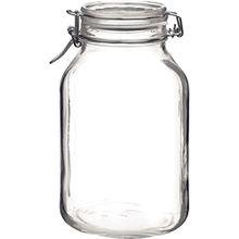 Bormioli Rocco Bügelverschlussglas Fido mit Glasdeckel - Füllmenge: 3 Liter - 1 Stück