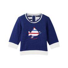 Petit Bateau Sweatshirt - gestreifter Fisch