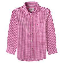 Almsach Trachtenhemd Berti für Kinder in Pink inklusive Volksfestfinder, Farbe:Pink, Größe:140/146