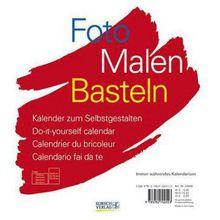 Buch - Foto, Malen, Basteln, weißer Karton (24 x 21,5 cm)