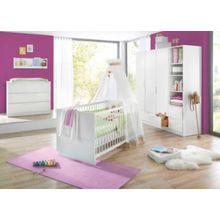 Geuther Komplett Kinderzimmer FRESH, 3-tlg. (Kinderbett, breite Wickelkommode und 3-türiger Kleiderschrank), Weiß weiß