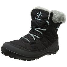 Columbia Youth Minx Shorty Omni-Heat Waterproof Mädchen Schneestiefel, Schwarz (Black/Spray), 32 EU, BY1334