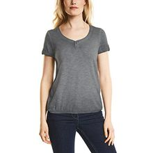 Cecil Damen T-Shirt 311938 Janna, Grau (Graphit Light Grey 10498), Small