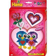 HAMA 3438 Geschenkset Love, 2.000 midi-Perlen & Zubehör