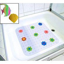 Anti-Rutsch-Sticker Duschwanneneinlage Badewanneneinlage Duschmatte Badematte PVC ca. 54x54cm vers. Motive (Fisch u. Muschel)