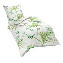 fleuresse Mako-Satin Bettwäsche-Set, Baumwollsatin, weiß, 135 cm x 200 cm