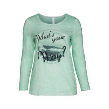 SHEEGO Shirt mint / schwarz