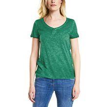 Cecil Damen T-Shirt 311938 Janna, Grün (Clover Green 11279), X-Small