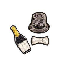 Macon&Lesquoy; Stickbroschen Set Max - Mehrfarbig