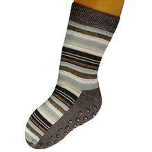 ABS Socken Stoppersocken geringelt Kinder, Farben alle:braunmeliert;Größe:35/38 bzw. 140/146
