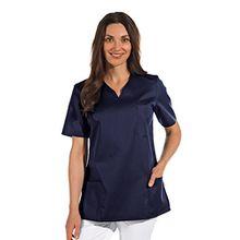 clinicfashion 12612049 Schlupfhemd Dunkelblau für Damen, Mischgewebe, Größe S
