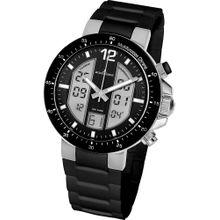 Jacques Lemans Uhr 'Milano' schwarz / silber