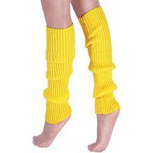 A&Z; Super Warme Damen Frauen Beinstulpen Stricken Stiefel Manschetten Socken Leg Knit Stulpen Warmers Socks Cuffs Knie 10 Farben (Gelb)