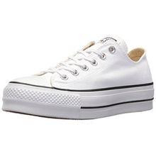 Converse Damen CTAS Lift OX White/Garnet/Navy Sneaker, Weiß (White/Garnet/Navy 102), 37.5 EU