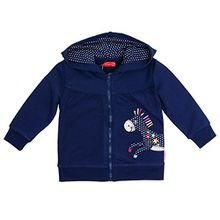 SALT AND PEPPER Baby-Mädchen Jacke B Jacket Funny Uni Esel Kap, Blau (Navy Blue 450), 74