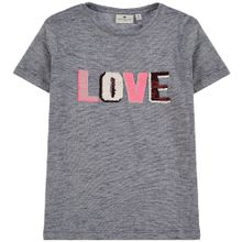 TOM TAILOR T-Shirt taubenblau / pink