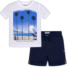 Mayoral T-Shirt + Shorts blau