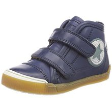 Bisgaard Unisex-Kinder Klettschuhe Hohe Sneaker, Blau (Navy), 33 EU