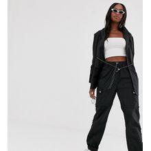 COLLUSION Tall – Hose aus Nylon mit Taschen-Schwarz