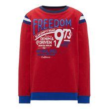Petrol Industries Sweater blau / rot / weiß