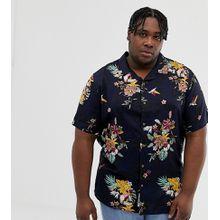 Only & Sons - Vollständig bedrucktes, kurzärmliges Hemd mit Reverskragen - Navy