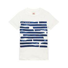 Scotch & Soda Shrunk Jungen T-Shirt Short Sleeve Artwork Tee, Weiß (Denim White 11), 176 (Herstellergröße: 16)
