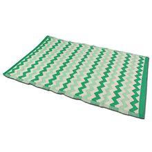 Outdoor Teppich verschiedene Muster und Farben grün/creme, blau/creme, grau/creme Kunststoffteppich 120 x 180 cm (grün/creme)